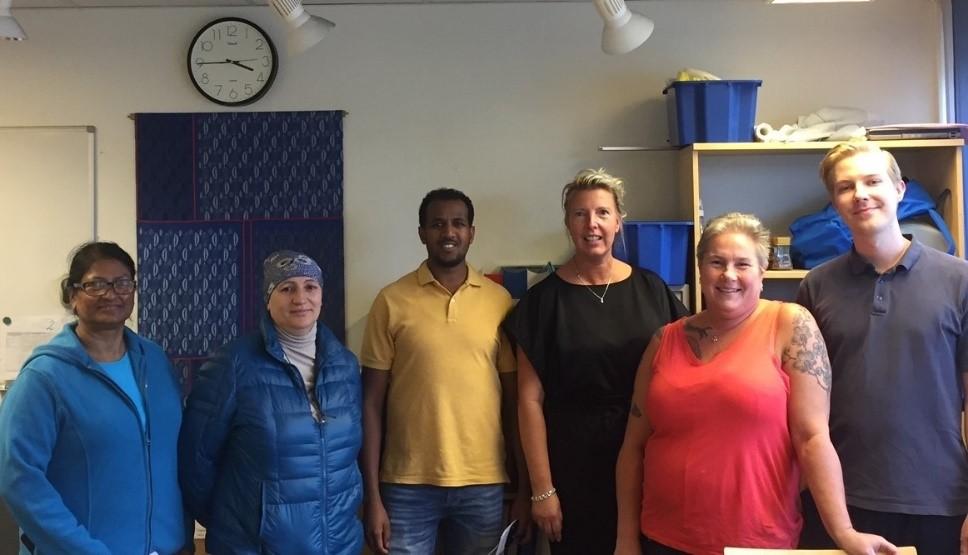 Bild på personal i Årsta Hemtjänst